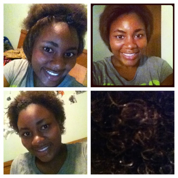 straighten my hair then made it curly all in one night lol (Taken with instagram)