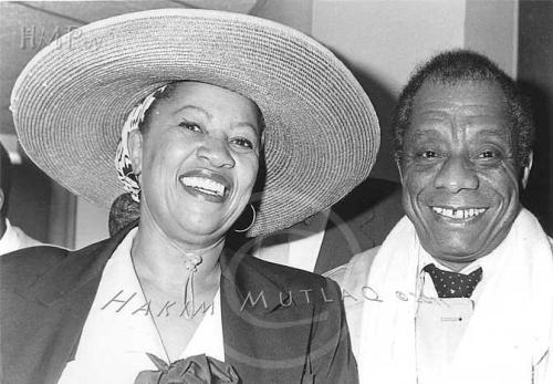 "atreegrowsinbrixton:  Toni Morrison's eulogy at James Baldwin's funeral in Dec 1987.  The season was always Christmas with you there and … you did not neglect to bring at least three gifts… You gave me a language to dwell in, a gift so perfect it seems my own invention… . The second gift was your courage, which you let us share: the courage of one who could go as a stranger in the village and transform the distances between people into intimacy with the whole world… The third gift was hard to fathom and even harder to accept. It was your tenderness – a tenderness so delicate I thought it could not last, but last it did and envelop me it did. You knew, didn't you, how I needed your language and the mind that formed it? How I relied on your fierce courage to tame wildernesses for me? How strengthened I was by the certainty that came from knowing you would never hurt me? You knew, didn't you, how I loved your love? You knew. This then is no calamity. No, This is jubilee. ""Our crown,"" you said, ""has already been bought and paid for. All we have to do,"" you said, ""is wear it."" And we do, Jimmy. You crowned us.  Wow.  I love this."
