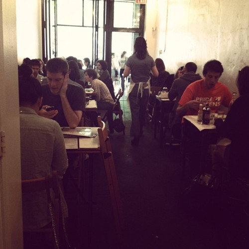 Brunching in Brooklyn a few weeks ago. Every time I'm in New York, it draws me a bit close. Ah, clever city.