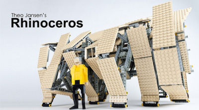 Theo Jansen's Rhinoceros Strandbeest via The Brothers Brick it walks