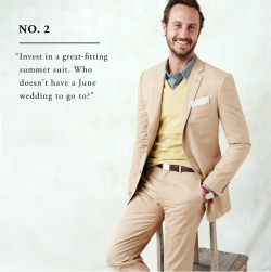 mensfashionworld:  J.Crew's Summer style rules