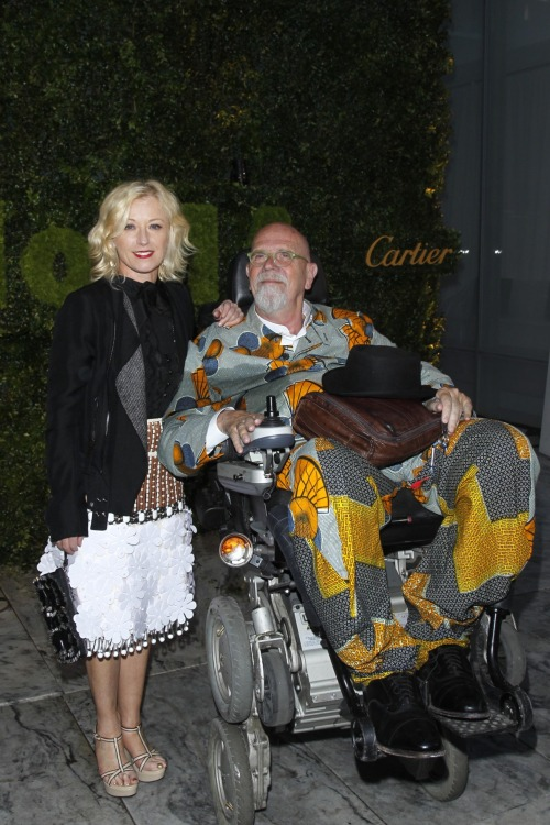 Cindy Sherman and Chuck Close at this week's MoMA Garden Party. Photo by PMc.