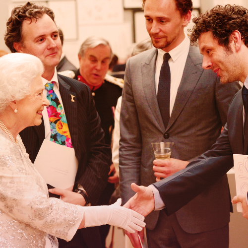 sarahvonkrolock:  And he even met the Queen… I think it doesn´t take long until he´s knighted simply for beeing so beautiful…