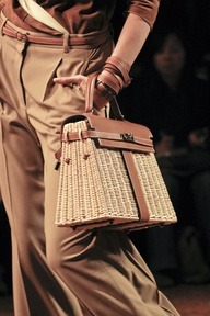 Hermes Wicker Kelly Bag—nuf said