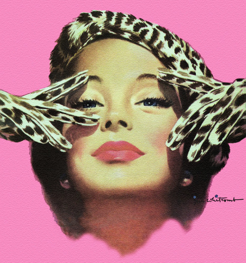 Leopard Gloves, art by Jon Whitcomb - Detail from cover of Cosmopolitan Magazine - October 1949
