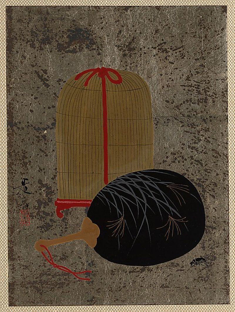 Fan and Insect Cage Shibata Zeshin  (Japanese, 1807–1891) [+]