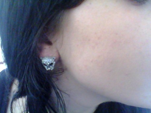 diamond cat earings!