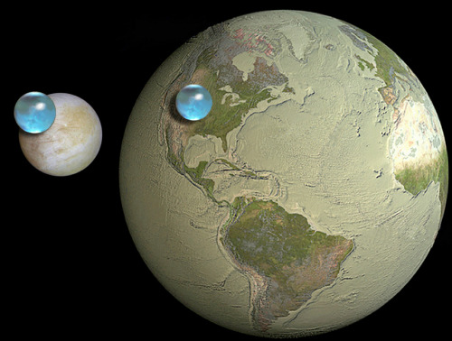 Europa may have more water than Earth