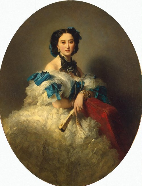 oldrags: 1857 Franz Xaver Winterhalter (German painter/lithographer, 1805-73) ~ Countess Varvara Alekseyevna Musina-Pushkina; State Hermitage Museum, Russia