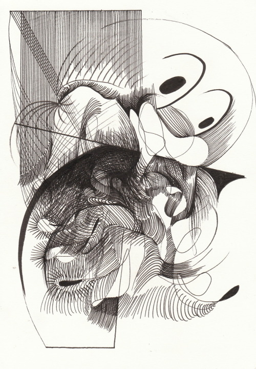 Rob ChurmUntitled (noodle face). 2011pen on paper21 x 14.8 cm VIA