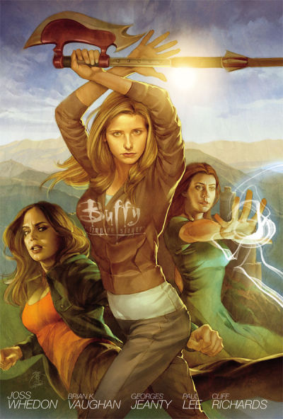 whedonesqued:  Out now - Buffy Season 8 Library Edition Hardcover Volume 1 (collects issues 1 to 10)