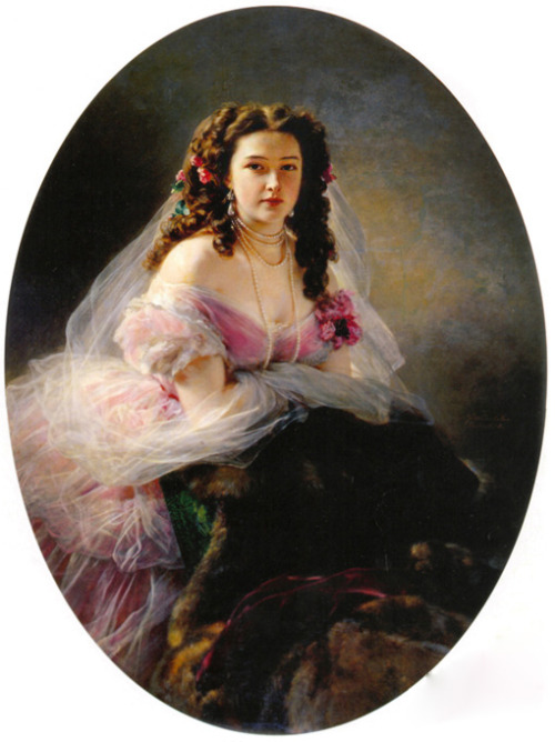 Portrait of Varvara Dmitrievna Korsakova by Franz Xaver Winterhalter, 1858 Russia, the Penza Savitsky Art Gallery