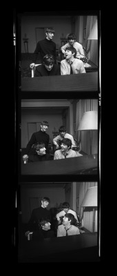 thegilly:  The Beatles at the George V Hotel, Paris. Photo by Harry Benson