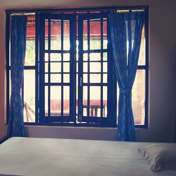 The #simple #life. #simplicity #tranquility #window #bed #travel #instatravel #rest #Asian #frame #indochine #vintage #serenity #sleep (Taken with instagram)