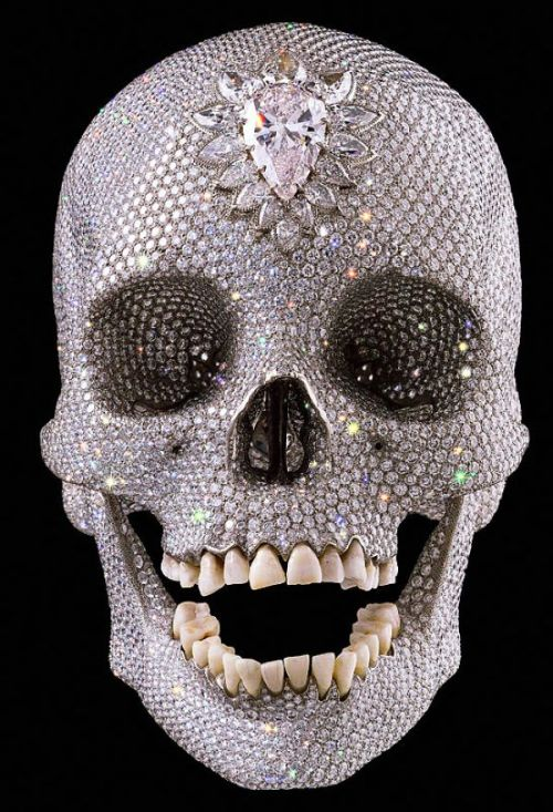 red-lipstick:  Damien Hirst - For The Love Of God, 2007                    Sculpture