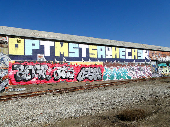 streetartsf:  Around the railroad tracks by the Coliseum in Oakland, CA.