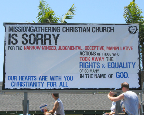 "xh0pelessxr0manticx:  gaywrites:  Religion: you're doing it right.   wow…..this is amazing. my coworker is Christian and she tells me this all the time. she has changed my mind about religion in so many ways. she reminds me all the time that God doesn't hate anyone. she told me today that love is love; love knows no gender. i find it so shocking because all my life i've always heard homosexuals are sinners. it's nice to know that there is a difference in haters and Christians. i hope everyone else can learn the difference one day, too.   I am thankful for the members of that church, and for your (^^^) friend who keeps spreading God's love. When I came out it was one of the hardest things because I felt like I wasn't ""allowed"" to be a lesbian and a Christian at the same time. I talked with counselors and preachers and friends and well, I was reminded that I am God's Beloved!! He made me exactly the way that He wanted me to be, and for that I am eternally grateful."