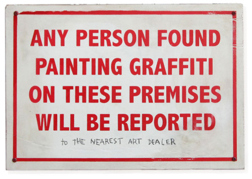 banksystreetart:  New Banksy: To The Nearest Art Dealer!