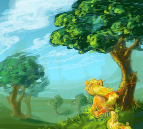 Edge of the Orchard - speed paint by ~spidey-love-forever