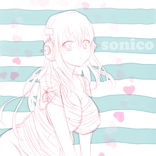 steffydoodles:  Super Sonico! She's so dang cute, how can I not draw her!?