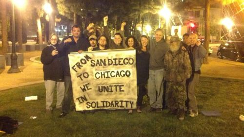 From San Diego to Chicago We Stand In Solidarity by Occupy San Diego