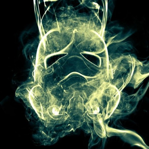 Stormtrooper made out of smoke by Kyle Schruder