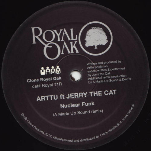 "zero-inch:  Arttu feat. Jerry The Cat - Nuclear Funk Remixes (Clone Royal Oak)A Made Up Sound and Dexter remix 2011's 'Nuclear Funk' by Arttu and Jerry The Cat on the red-hot zero"" exclusive. Dave Huismans supplies a madly swinging funky house take in his unmistakable style, while Dexter aims for synth-padded acid electro. Both should get heavy club play. Essential. Maxi-Single and single tracks now available for download (MP3 / 320 kb/s)"