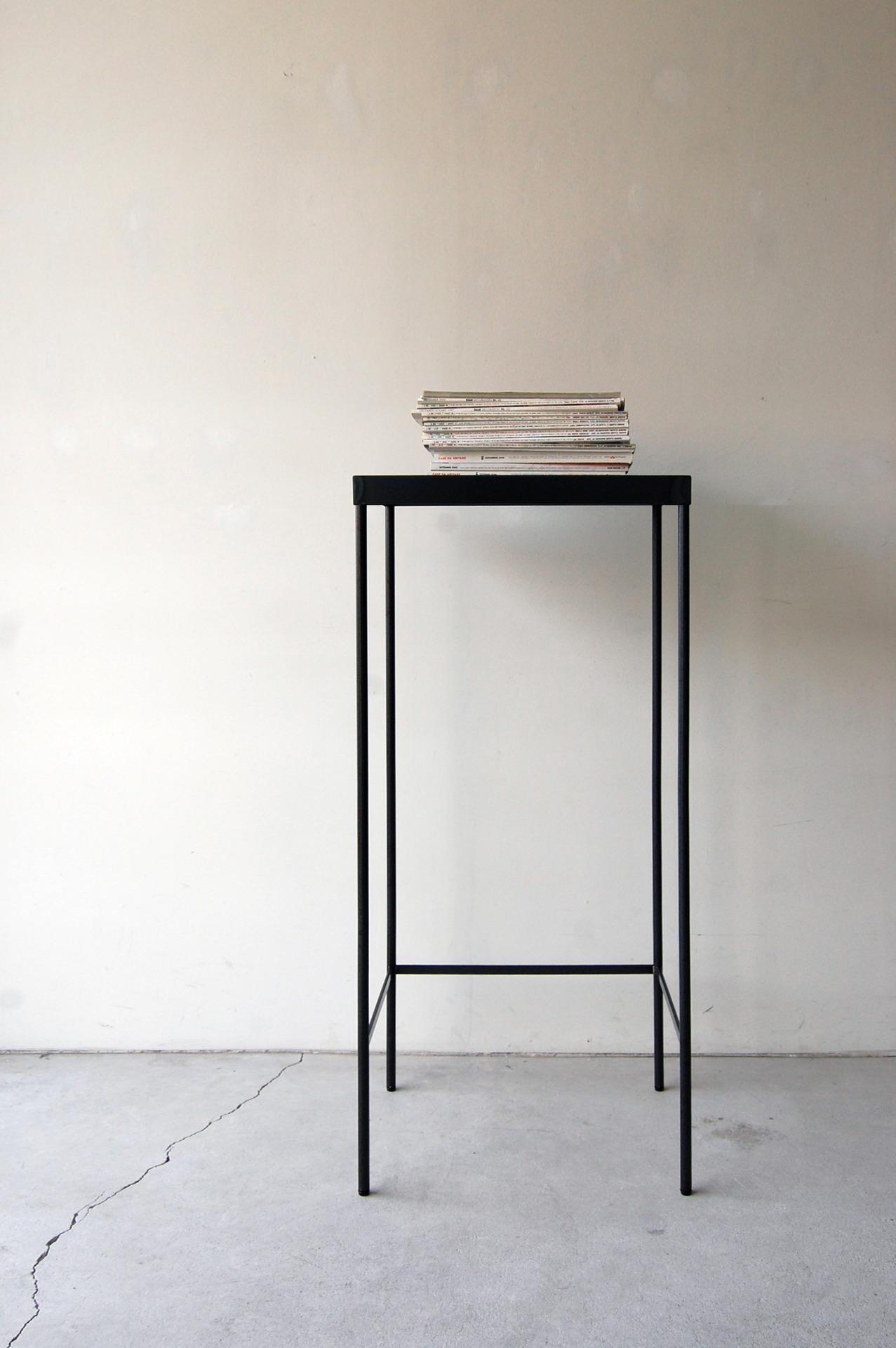nautdesign:  130 | 01_Custom made furniture Frame side board : W450 D350 H1,050 / Steel hardening melamine paint