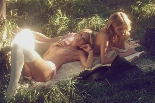 Lounging Lingerie-Clad Great Gastby Girls