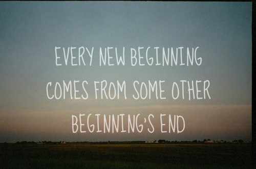 Every new beginning…..