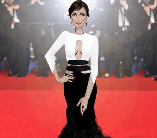 mariascrapbook:  Paz Vega & Her Ruby Ring on the red ruby carpet.