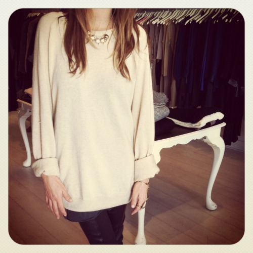 .ellery boyfriend jumper in FAO boutique
