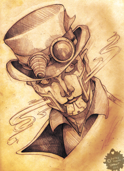 umbersketches:  Rabbit - from Steam Powered Giraffe Drawn while listening to their brand new album, The 2¢ Show :D
