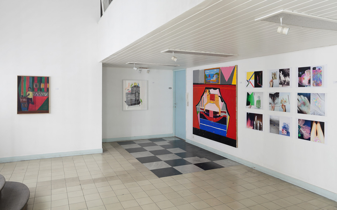 Installation Shots of IRRECONCILABLE, curated by Guy Yanai, at the Spaceship at Hayarkon 70, Tel Aviv. May - June 2012 With Avner Ben-Gal, Tal R, Jonas Wood, Jennifer Abessira, Matt Phillips, and Guy Yanai
