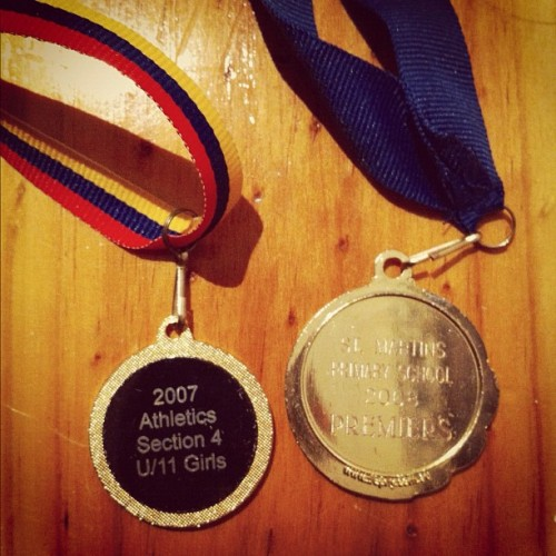 Old sporting achievements- athletics age champion & volleyball premiers 🏆 (Taken with instagram)