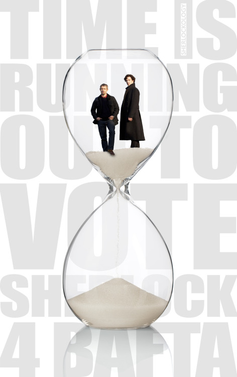 sherlockology:  Voting closes for the BAFTA 2012 YouTube Audience Award at 5pm BST today and time is running out to #VoteSHERLOCK4Bafta. If you're in the UK and able to vote, vote now and make your vote count HERE