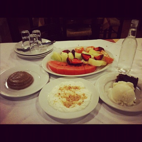 #raki #Greek #apperitiff #fruits #yoghurt #brownies #icecream #sweets #desserts #instagram #ig #igsg #iphonesia #foodie #foodcoma #foodporn  (Taken with instagram)
