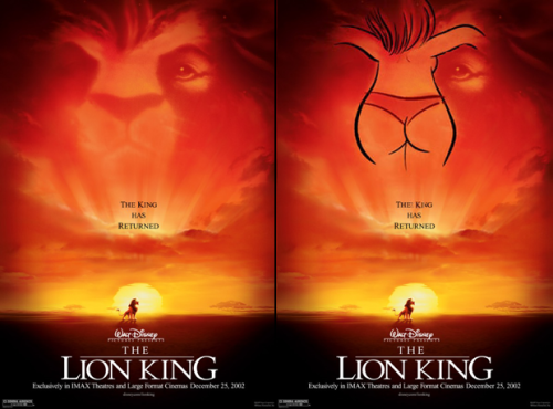 Hidden Images: The Lady on the Lion King Poster (Also see: The Lion King vs. Star Wars)