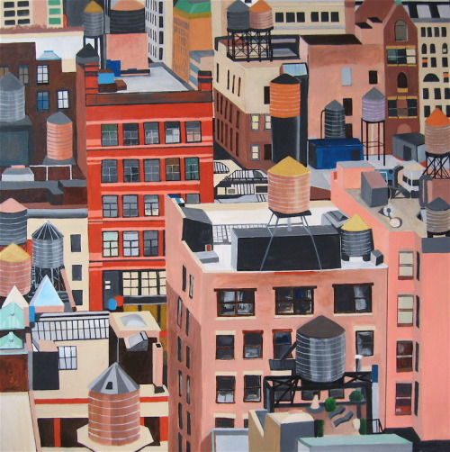 darksilenceinsuburbia:  Toni Silber-Delerive. Manhattan Water Tanks.