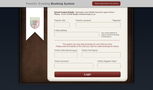 A teaser of the new Parents' Evening Booking System's new design. This update will be rolled out in June 2012 so that schools have plenty of time before the new term to adjust.