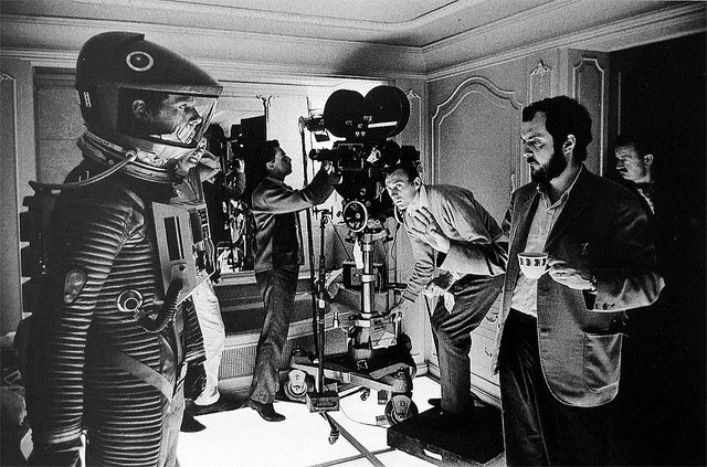 flashbackdandies:  bigandstrong: Stanley Kubrick drinking tea on the set of 2001: A Space Odyssey, in 1968