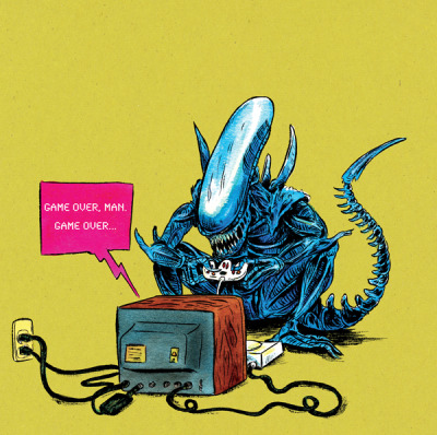 nerdwire:  X for Xenomorph by Henry H. Eudy  [via :freakun:]  Game over man!