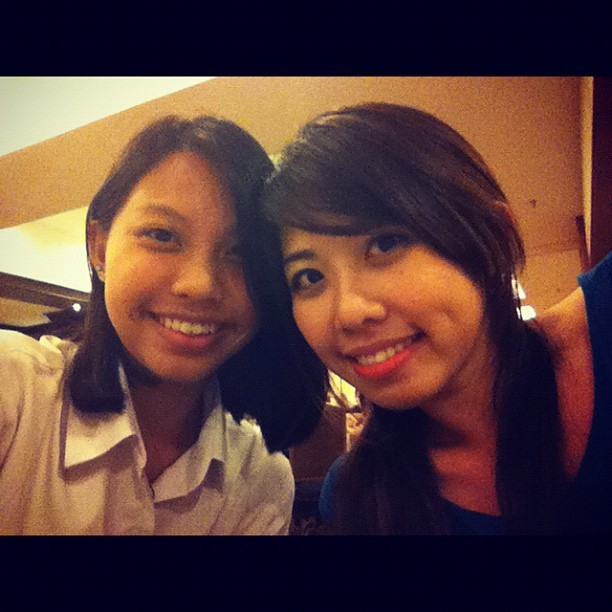 My pretty sister 😁 (Taken with instagram)