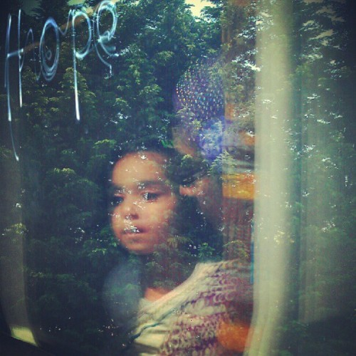 Reflection of a todler on train. #hope #dream #young #free #future (Taken with instagram)