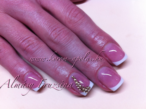 French syted square nails not sculptured just az long az the natural nails, just to make them a bit stronger:) Nail upgrading:))