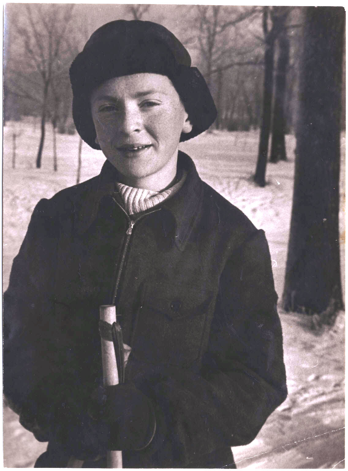 Joseph Brodsky as a young boy, winter