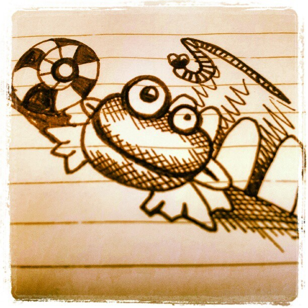 #frog #illustration #doodle (Taken with instagram)