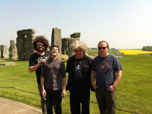 The Melvins visit Stonehenge (via the Melvins Facebook page)