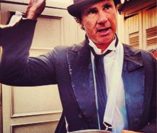 Chad Smith on the set of the Brendan's Death Song Music Video Shoot in New Orleans on May 21st 2012 - Directed by Marc Klasfeld