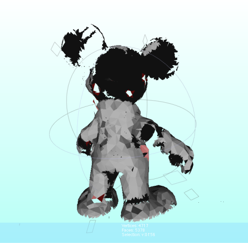 Guess who? 3D Scan of a 1972 mickey mouse, with a reduced polygon count for further algorithmic processing.